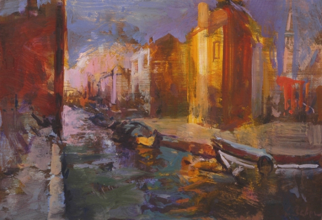 The Heart of Burano - oil on board - 30 x 45 cm - SOLD