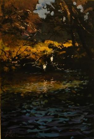 White Ibis, Garvey Park - oil on board - 35 x 23 cm - SOLD