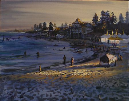 The Great Day, Cottesloe - oil on canvas - 55 x 70 cm - SOLD