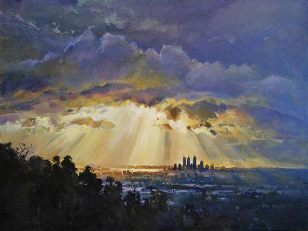 Beyond the Wandoo Ridge, City Vista - oil on canvas - 92 x 122 cm - SOLD