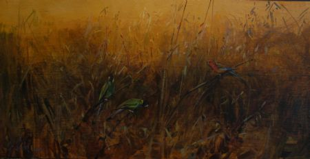 East Meets West - oil on board - 46 x 90 cm - SOLD