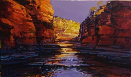 Kalamina Gorge Visions 2 - oil on canvas - 42 x 68 cm - SOLD
