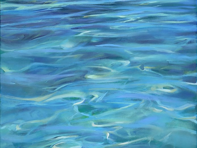 Greg Baker - From the Shallows to Gage Roads (Oil on canvas, 88x60cm)