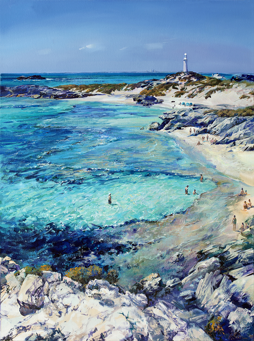 Greg Baker - 'Summer Basin'- (Oil on canvas, 134x100cm)
