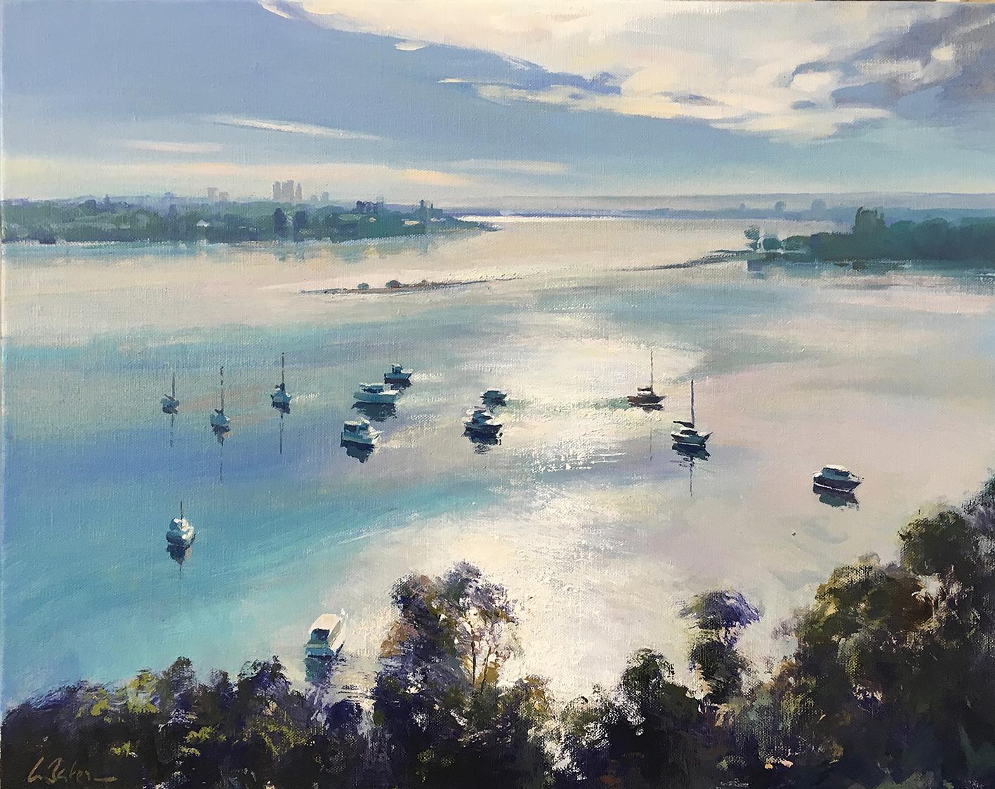 Greg Baker - Above Diamond Water (oil on canvas,  41 x 51 cms)