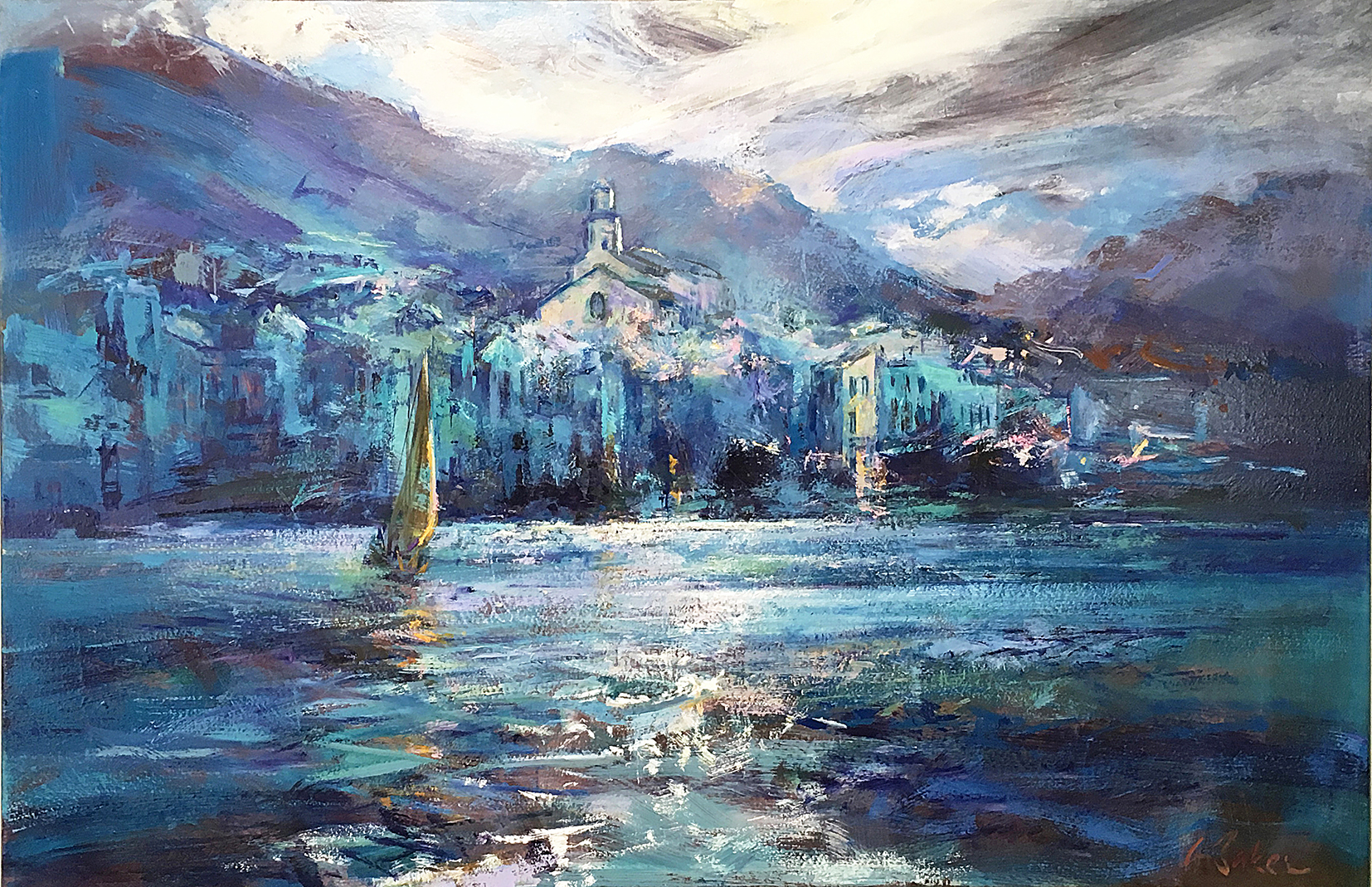Greg Baker - Cadaques - A Storm over Catalonia (oil on canvas, 100 x 150cms)