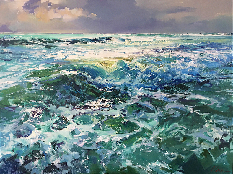 Greg Baker - Winter at Coogee (oil on canvas 91 x 122cm)