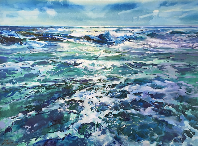 Greg Baker - Winter at Coogee II (oil on canvas 91 x 122cm)