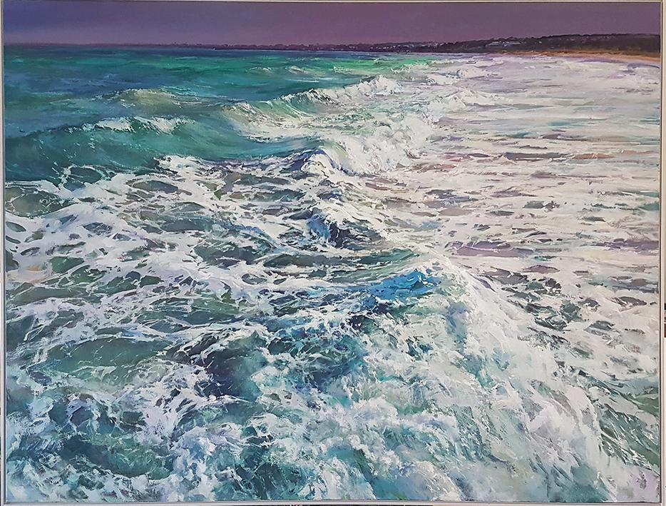 Greg Baker - Between Jetties - Woodman Point (oil on canvas 150 x 200cm)
