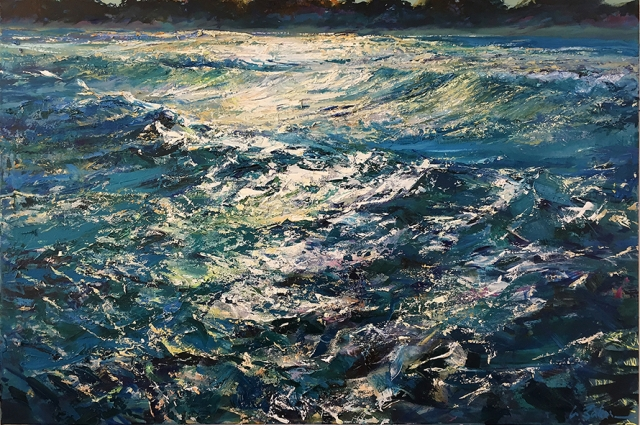 Greg Baker - Wake of the Wave - Woodman Point (oil on canvas 84 x 123cm)