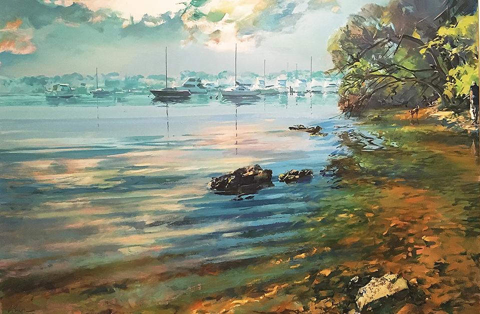 Greg Baker - The Dogwalk by 'Crocodile Rock' (oil on canvas 100 x 150cm)