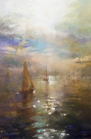 Greg Baker - Enshrouded - Crawley (pastel on paper 97 x 68cm)