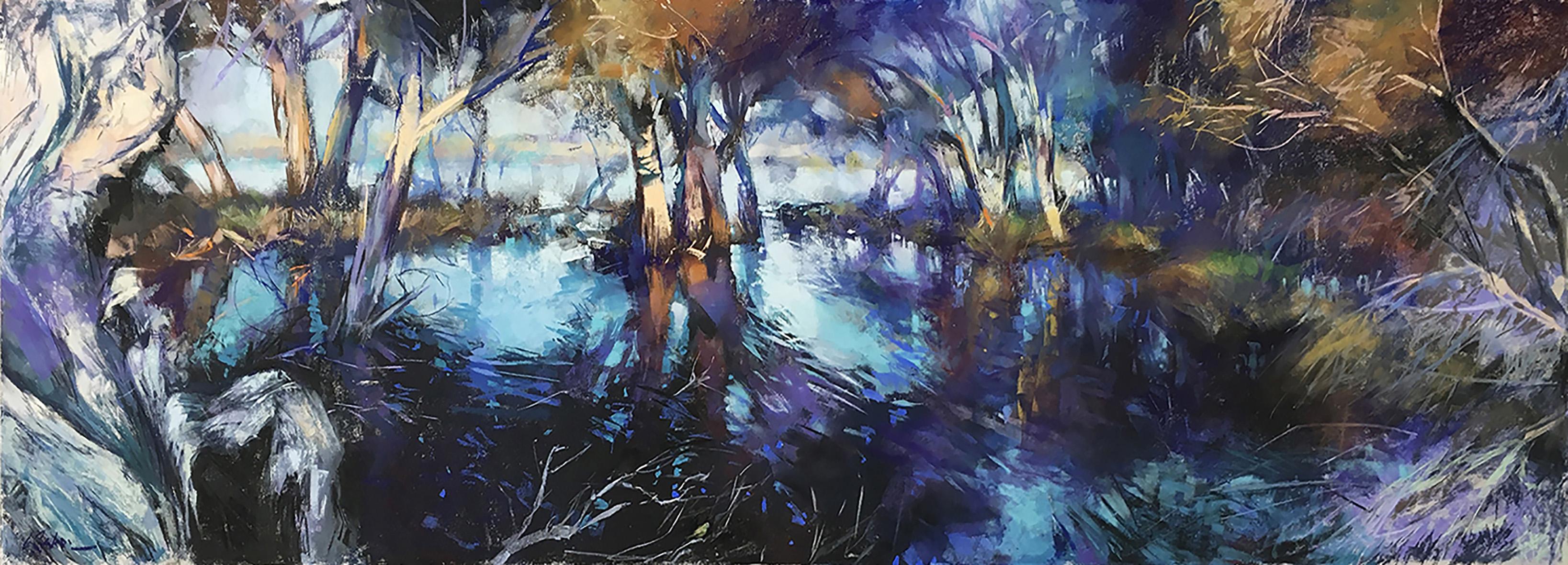 Greg Baker - The Light Garden (pastel on board 53 x 150cm) SOLD