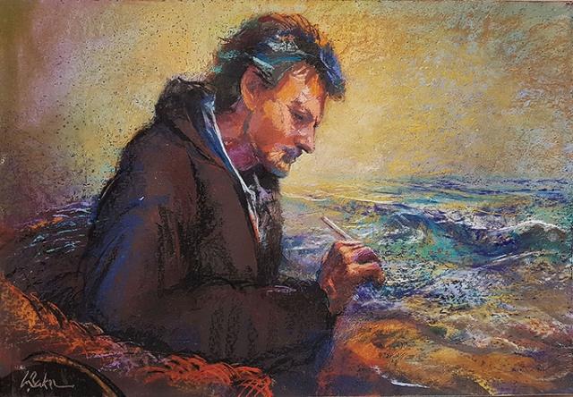 Greg Baker - Immersed (pastel on board 55 x 80cm)