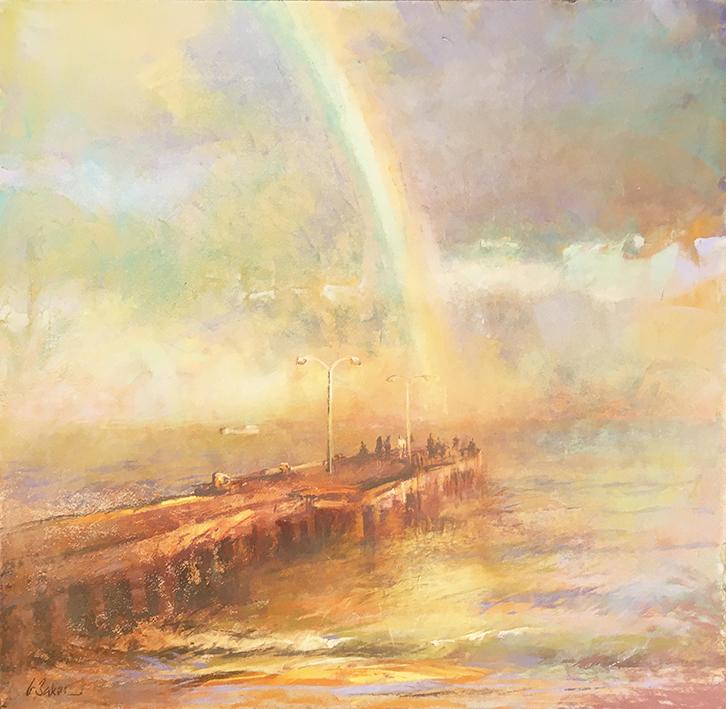 Greg Baker - Sun Shower (pastel on board 53.5 x 55cm) SOLD
